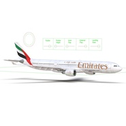 Jet Airliner Airbus A330-300 Emirates Rigged. Preview 52