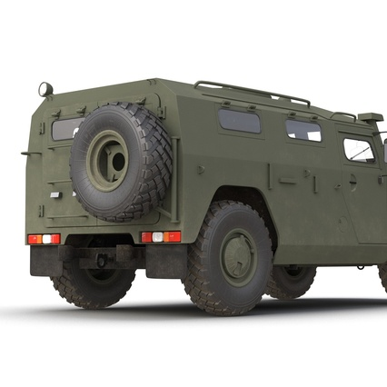 Russian Mobility Vehicle GAZ Tigr M Rigged. Render 33