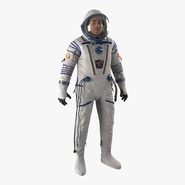 Russian Astronaut Wearing Space Suit Sokol KV2 Rigged 2
