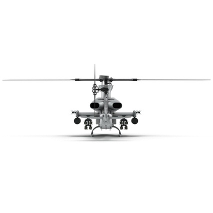 Attack Helicopter Bell AH 1Z Viper Rigged. Render 29