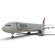 Jet Airliner Airbus A330-300 Northwest Airlines Rigged. Preview 38