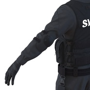 SWAT Man Mediterranean Rigged for Cinema 4D. Preview 29