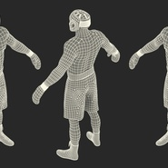 African American Boxer Rigged for Cinema 4D. Preview 29