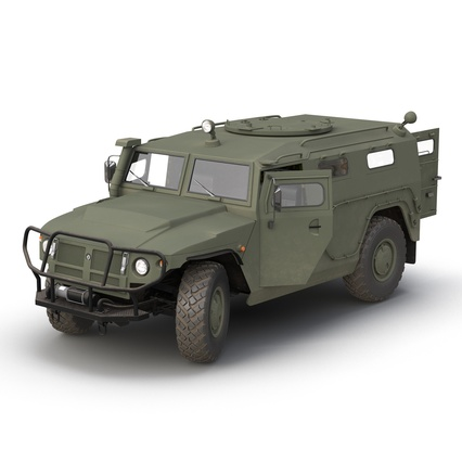 Russian Mobility Vehicle GAZ Tigr M Rigged. Render 2