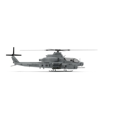 Attack Helicopter Bell AH 1Z Viper Rigged. Render 3