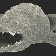 Crocodile Rigged for Maya. Preview 27