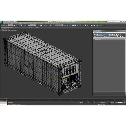 ISO Refrigerated Container. Render 35