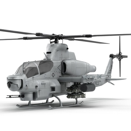 Attack Helicopter Bell AH 1Z Viper Rigged. Render 20