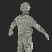 SWAT Man Mediterranean Rigged for Cinema 4D. Preview 54