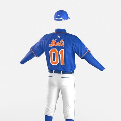 Baseball Player Outfit Mets 2. Render 18