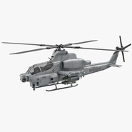 Attack Helicopter Bell AH 1Z Viper Rigged
