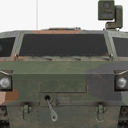 Fennek German Reconnaissance Vehicle Rigged. Render 20