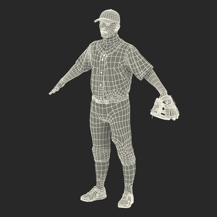 Baseball Player Rigged Athletics for Cinema 4D. Render 3