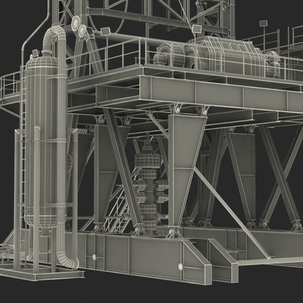 Fracking Gas Platform. Render 51