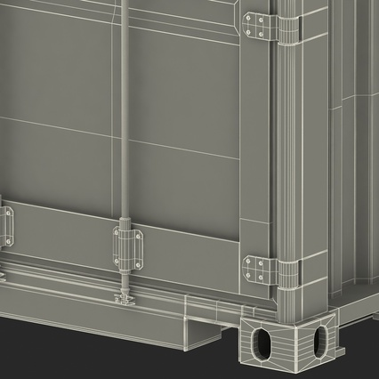 45 ft High Cube Container Blue. Render 47