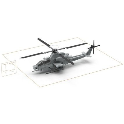 Attack Helicopter Bell AH 1Z Viper Rigged. Render 81