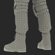 SWAT Man Mediterranean Rigged for Cinema 4D. Preview 63