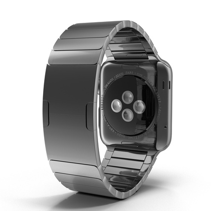 Apple Watch 38mm Link Bracelet Dark Space 2. Render 14