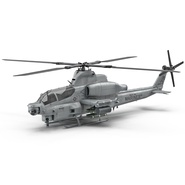 Attack Helicopter Bell AH 1Z Viper Rigged. Preview 2