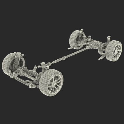 Sedan Chassis. Render 47
