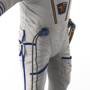 Russian Astronaut Wearing Space Suit Sokol KV2 Rigged for Maya. Preview 37
