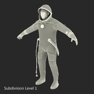 Russian Astronaut Wearing Space Suit Sokol KV2 Rigged for Maya. Preview 51