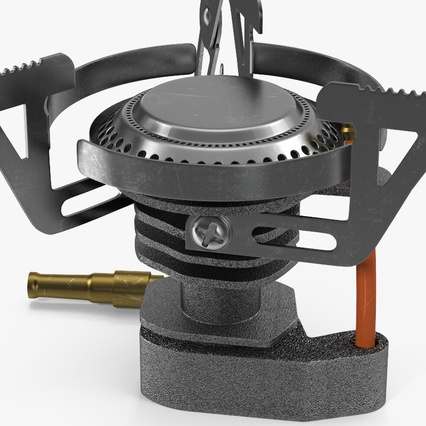 Folding Portable Camping Gas Stove. Render 8