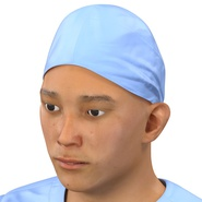 Male Surgeon Asian Rigged with Blood 2 for Cinema 4D. Preview 24