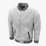 White Baseball Jacket. Preview 1
