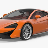 Sports Car McLaren 570GT 2017 Simple Interior. Preview 6