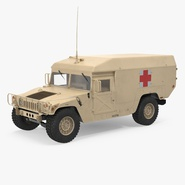 Ambulance Car HMMWV m996 Desert
