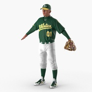 Baseball Player Rigged Athletics for Cinema 4D. Preview 2