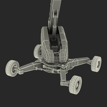 Telescopic Boom Lift Generic 4 Pose 2. Render 81