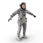 Russian Astronaut Wearing Space Suit Sokol KV2 Rigged for Maya. Preview 8