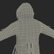 Russian Astronaut Wearing Space Suit Sokol KV2 Rigged for Maya. Preview 59