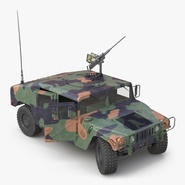 High Mobility Multipurpose Wheeled Vehicle Humvee Camo Rigged