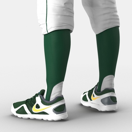 Baseball Player Outfit Athletics 3. Render 27