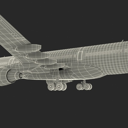 Jet Airliner Airbus A330-200 Northwest Airlines Rigged. Render 69