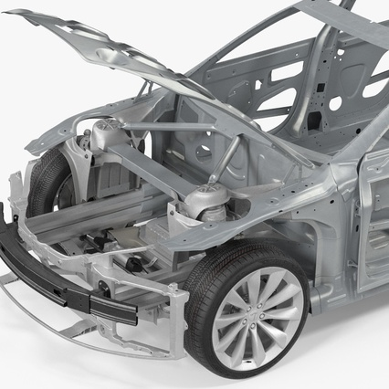 Tesla Model S Frame and Chassis. Render 19