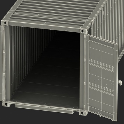45 ft High Cube Container Blue. Render 43