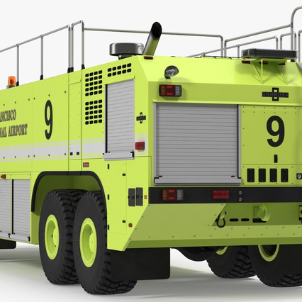 Oshkosh Striker 4500 Aircraft Rescue and Firefighting Vehicle Rigged. Render 6