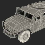 Russian Mobility Vehicle GAZ Tigr M Rigged. Preview 80