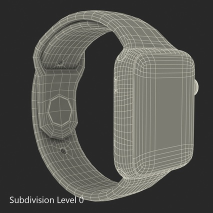 Apple Watch Sport Band White Fluoroelastomer 2. Render 31