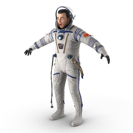 Russian Astronaut Wearing Space Suit Sokol KV2 Rigged for Maya. Render 17