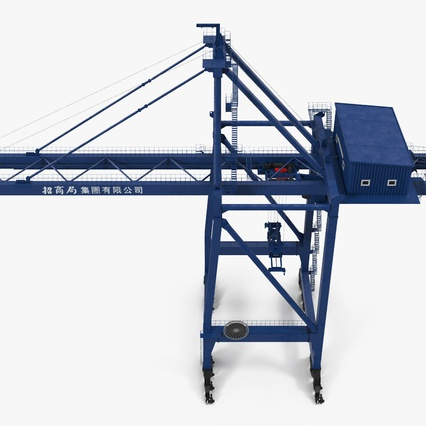 Container Crane Blue. Render 11