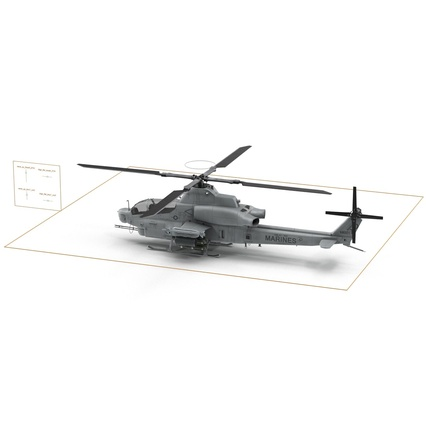 Attack Helicopter Bell AH 1Z Viper Rigged. Render 83