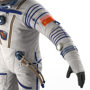 Russian Astronaut Wearing Space Suit Sokol KV2 Rigged for Maya. Preview 39