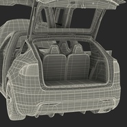 Tesla Model X Rigged. Preview 111