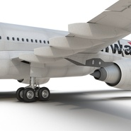 Jet Airliner Airbus A330-200 Northwest Airlines Rigged. Preview 49