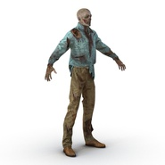 Zombie Rigged for Cinema 4D. Preview 15